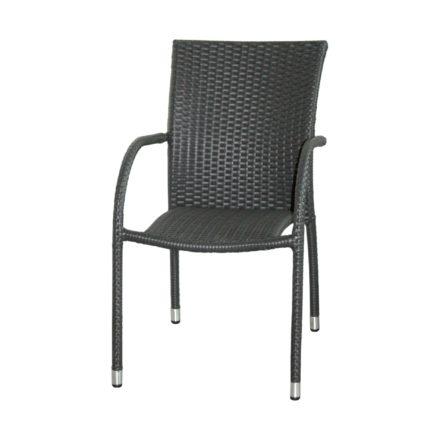"Zebra Gartenstuhl ""Milano"", Gestell Aluminium, Polyrattangeflecht quarz"