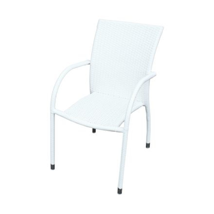 "Zebra Gartenstuhl ""Milano"", Gestell Aluminium, Polyrattangeflecht snowwhite"