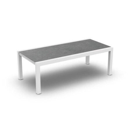 Jati&Kebon, Gestell Aluminium weiß, Tischplatte Keramik Zement hell