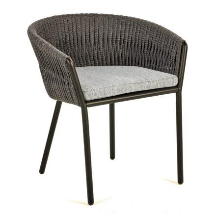 "Royal Botania Gartenstuhl ""Twist"", Gestell Aluminium bronze, Sitzfläche Olefin Fiber"