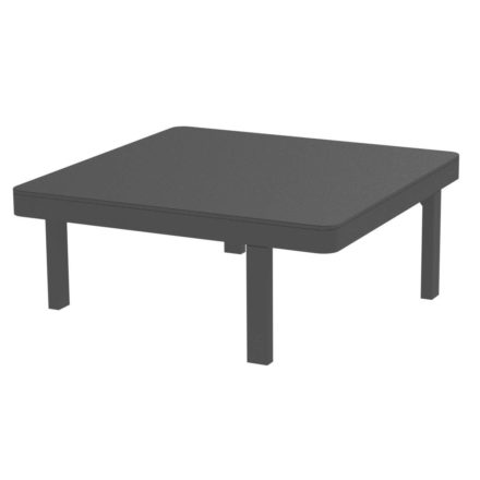 "Royal Botania Loungetisch ""Alura"", Gestell Aluminium schwarz, Tischplatte Keramik schwarz, Maße: 80 x 80 x 34 cm"