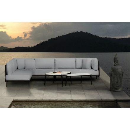 "Royal Botania ""Lusit"" Lounge-Set, groß, Gestell Aluminium und Rope-Material bronze und Tische ""Tea time"""