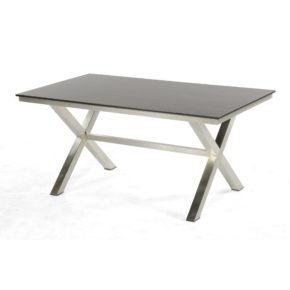 "SonnenPartner ""Base-Spectra"" Gartentisch, 160x90 cm, Gestell Edelstahl, Tischplatte HPL"