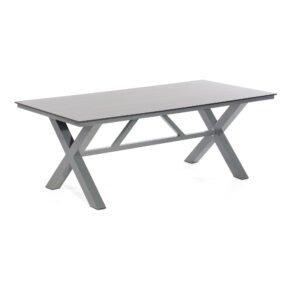 """SonnenPartner """"Base-Spectra"""" Gartentisch, 200x100 cm, Gestell Aluminium anthrazit, Tischplatte HPL Vintageoptik"""