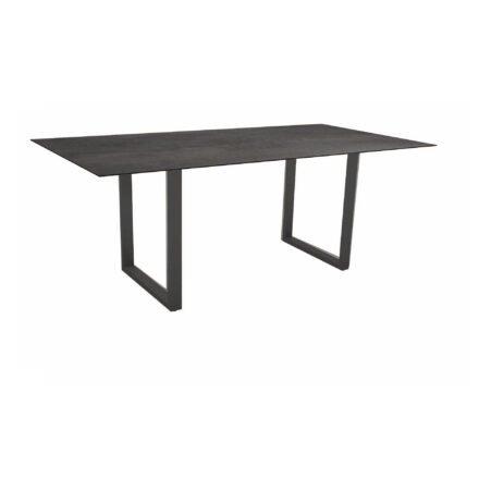 Stern Kufentisch, Maße: 200x100x73 cm, Gestell Aluminium anthrazit, Tischplatte HPL Nitro