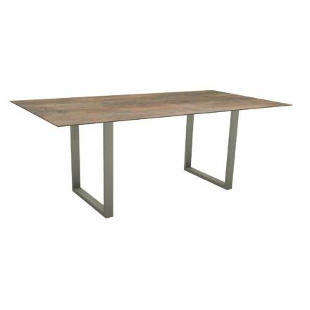 Stern Kufentisch, Maße: 200x100x73 cm, Gestell Aluminium graphit, Tischplatte HPL Ferro