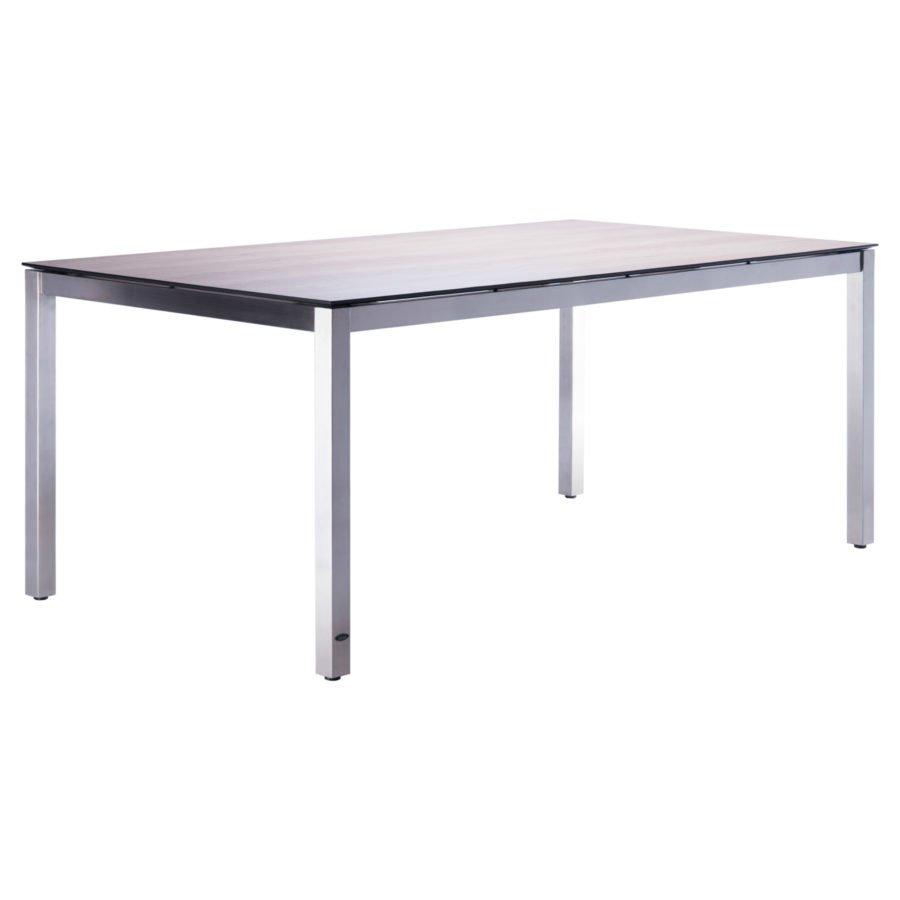 Zebra Opus Gartentisch Gestell Edelstahl Tischplatte Hpl