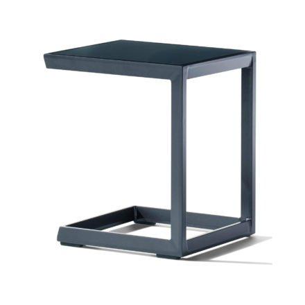 Sieger Beistelltisch, Gestell Aluminium eisengrau, Tischplatte Aluminium eisengrau