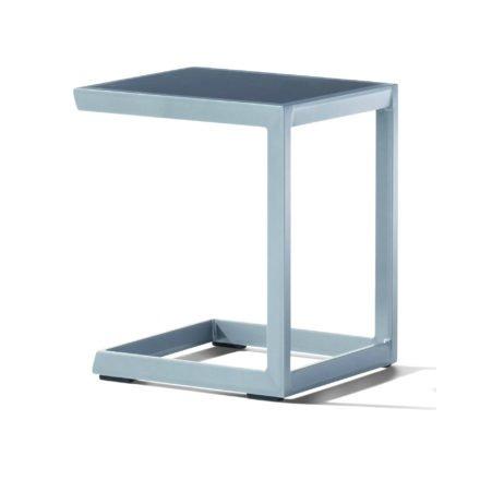 Sieger Beistelltisch, Gestell Aluminium graphit, Tischplatte Aluminium graphit