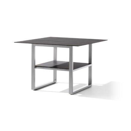 Sieger Diningtisch 105x105 cm, Alu graphit, Tischplatte Polytec