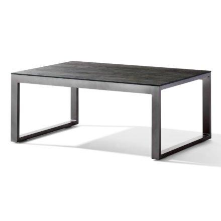 Sieger Loungetisch, Gestell Aluminium eisengrau, Tischplatte Polytec