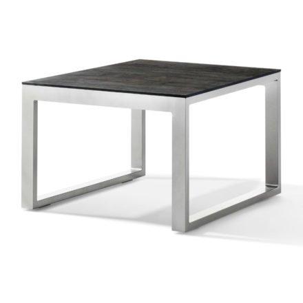 Sieger Loungetisch, Gestell Aluminium graphit, Tischplatte Polytec