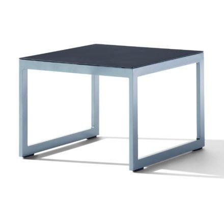 Sieger Loungetisch, Gestell Aluminium graphit, Tischplatte Glas eisengrau lackiert