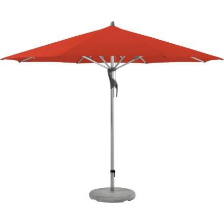 """Sonnenschirm """"Fortero®"""", rund, von GLATZ, Dessin 516 - Fire Red (© by GLATZ AG, Schweiz)"""