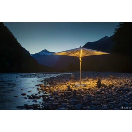 """Sonnenschirm """"Fortello® LED"""", quadratisch, von GLATZ (© by GLATZ AG, Schweiz)"""