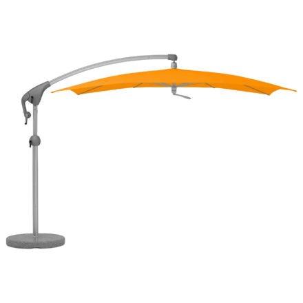 """Sonnenschirm """"Pendalex®P+"""", rechteckig, ohne Volant, Gestell natureloxiert, von GLATZ, Dessin 512 - Mandarin (© by GLATZ AG, Schweiz)"""