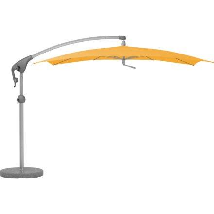 """Sonnenschirm """"Pendalex®P+"""", rechteckig, ohne Volant, Gestell natureloxiert, von GLATZ, Dessin 514 - Corn (© by GLATZ AG, Schweiz)"""