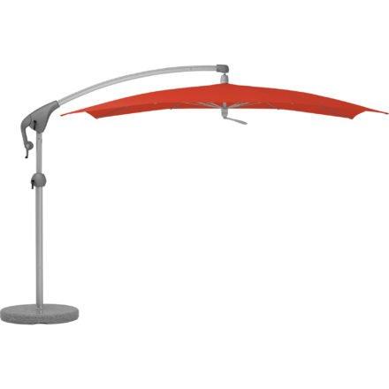 """Sonnenschirm """"Pendalex®P+"""", rechteckig, ohne Volant, Gestell natureloxiert, von GLATZ, Dessin 516 - Fire Red (© by GLATZ AG, Schweiz)"""