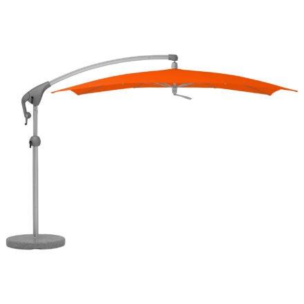 """Sonnenschirm """"Pendalex®P+"""", rechteckig, ohne Volant, Gestell natureloxiert, von GLATZ, Dessin 517 - Sunglow (© by GLATZ AG, Schweiz)"""