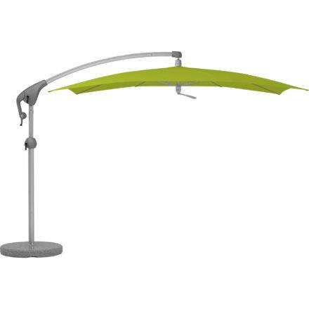 """Sonnenschirm """"Pendalex®P+"""", rechteckig, ohne Volant, Gestell natureloxiert, von GLATZ, Dessin 654 - Kiwi (© by GLATZ AG, Schweiz)"""