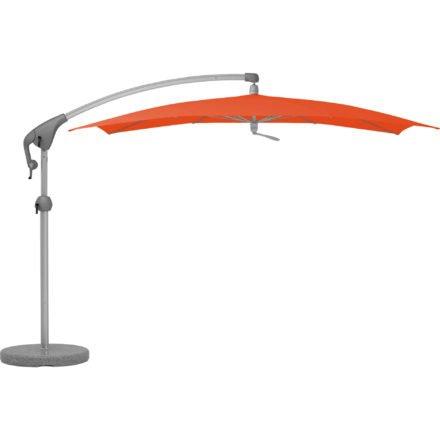 """Sonnenschirm """"Pendalex®P+"""", rechteckig, ohne Volant, Gestell natureloxiert, von GLATZ, Dessin 660 - Papaya (© by GLATZ AG, Schweiz)"""