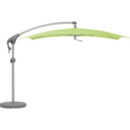 """Sonnenschirm """"Pendalex®P+"""", rechteckig, ohne Volant, Gestell natureloxiert, von GLATZ, Dessin 670 - Mint (© by GLATZ AG, Schweiz)"""