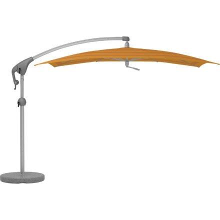 """Sonnenschirm """"Pendalex®P+"""", rechteckig, ohne Volant, Gestell natureloxiert, von GLATZ, Dessin 683 - Sahara Stripes (© by GLATZ AG, Schweiz)"""
