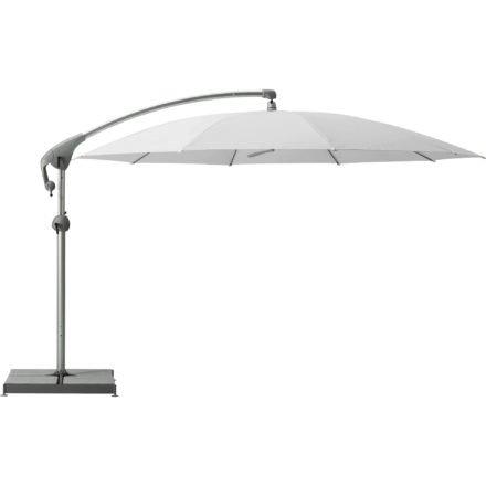 """Sonnenschirm """"Pendalex®P+"""", rund, ohne Volant, Gestell natureloxiert, von GLATZ, Dessin 510 - White (© by GLATZ AG, Schweiz)"""