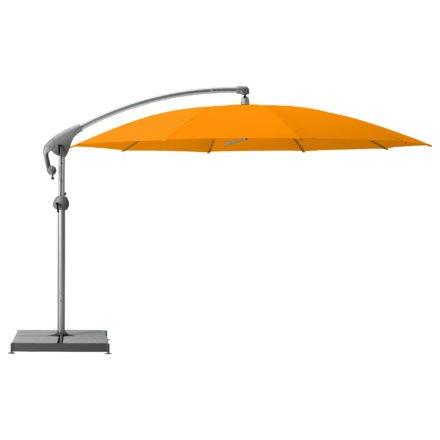 """Sonnenschirm """"Pendalex®P+"""", rund, ohne Volant, Gestell natureloxiert, von GLATZ, Dessin 512 - Mandarin (© by GLATZ AG, Schweiz)"""