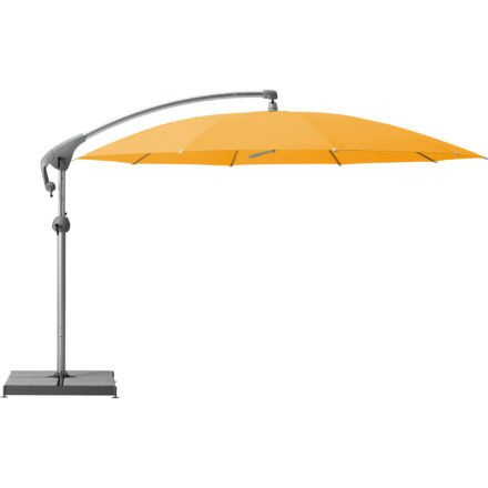 """Sonnenschirm """"Pendalex®P+"""", rund, ohne Volant, Gestell natureloxiert, von GLATZ, Dessin 514 - Corn (© by GLATZ AG, Schweiz)"""
