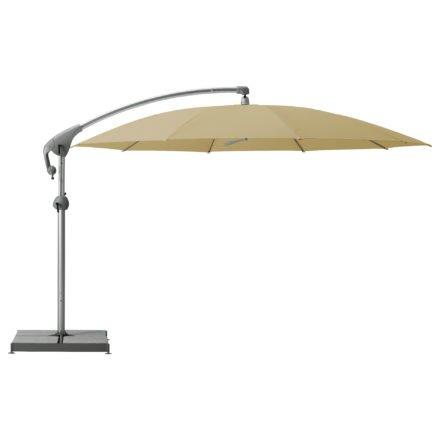"""Sonnenschirm """"Pendalex®P+"""", rund, ohne Volant, Gestell natureloxiert, von GLATZ, Dessin 526 - Bamboo (© by GLATZ AG, Schweiz)"""