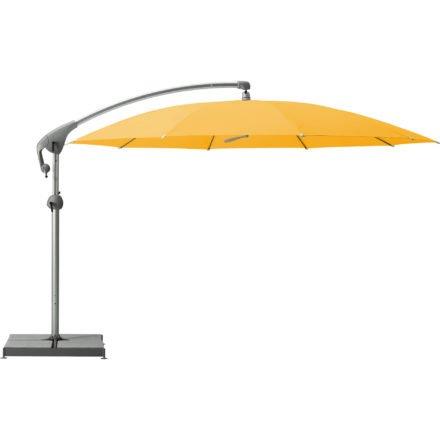 """Sonnenschirm """"Pendalex®P+"""", rund, ohne Volant, Gestell natureloxiert, von GLATZ, Dessin 640 - Sun (© by GLATZ AG, Schweiz)"""