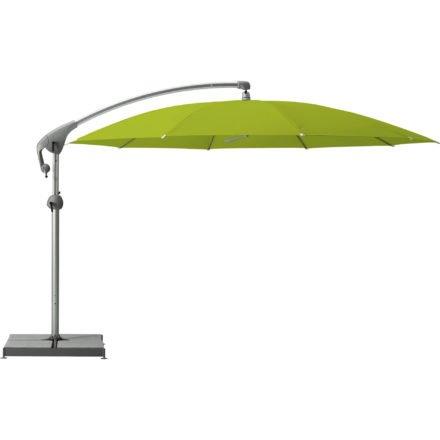 """Sonnenschirm """"Pendalex®P+"""", rund, ohne Volant, Gestell natureloxiert, von GLATZ, Dessin 654 - Kiwi (© by GLATZ AG, Schweiz)"""