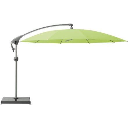 """Sonnenschirm """"Pendalex®P+"""", rund, ohne Volant, Gestell natureloxiert, von GLATZ, Dessin 670 - Mint (© by GLATZ AG, Schweiz)"""