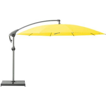 """Sonnenschirm """"Pendalex®P+"""", rund, ohne Volant, Gestell natureloxiert, von GLATZ, Dessin 680 - Pineapple (© by GLATZ AG, Schweiz)"""