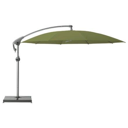 """Sonnenschirm """"Pendalex®P+"""", rund, ohne Volant, Gestell natureloxiert, von GLATZ, Dessin 695 - Seaweed (© by GLATZ AG, Schweiz)"""