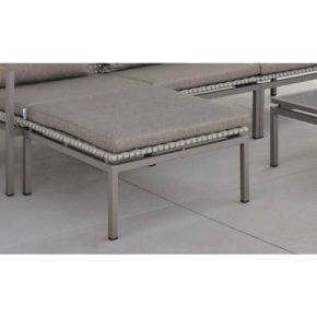 Stern Lounge-Hockerkissen mit Reißverschluss, Farbe rehbraun, Material 100% Polyacryl