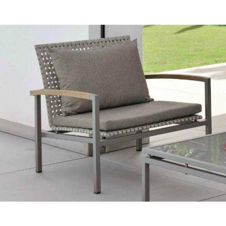 Stern Lounge-Sitzkissen mit Reißverschluss, Farbe rehbraun, Material 100% Polyacryl
