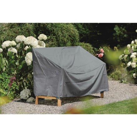 Stern Schutzhülle mit Bindebändern für Gartenbank, Farbe uni grau