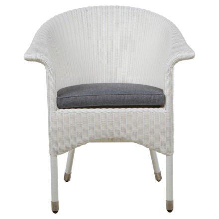 """Zebra Gartenstuhl """"Hastings"""", snowwhite, mit Sitzkissen Grey"""