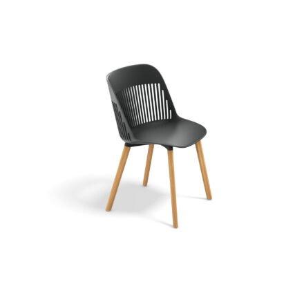 "DEDON Essstuhl ""AIIR"", Gestell Premium Teakholz, Sitzschale Polypropylen, Farbe nori"
