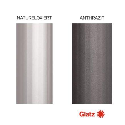 GLATZ Gestellfarben Alu natureloxiert und anthrazit (© by GLATZ AG, Schweiz)
