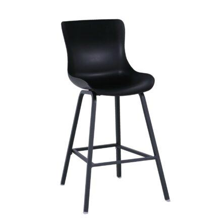 """Hartman """"Sophie"""" Dining-Barhocker, Alugestell und Kunststoff-Sitzschale carbon black"""