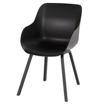 """Hartman """"Sophie Element"""" Organic Chair, Gestell Aluminium carbon black, Sitzschale carbon black"""