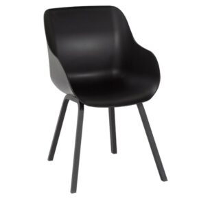 "Hartman ""Sophie Element"" Organic Chair, Gestell Aluminium carbon black, Sitzschale carbon black"
