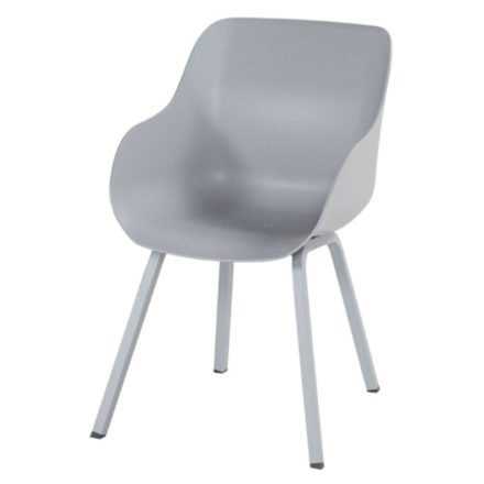 "Hartman ""Sophie Element"" Organic Chair, Gestell Aluminium misty grey, Sitzschale misty grey"