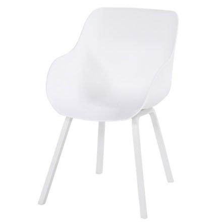 "Hartman ""Sophie Element"" Organic Chair, Gestell Aluminium royal white, Sitzschale royal white"