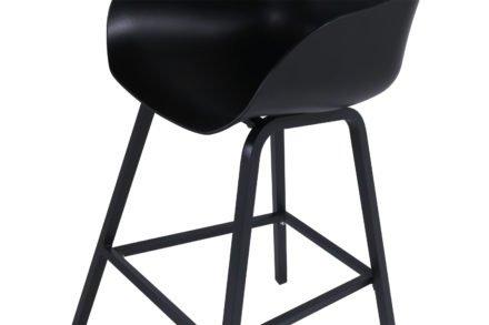 "Hartman ""Sophie"" Oganic Barhocker, Aluminiumgestell und Kunststoff-Sitzschale carbon black"