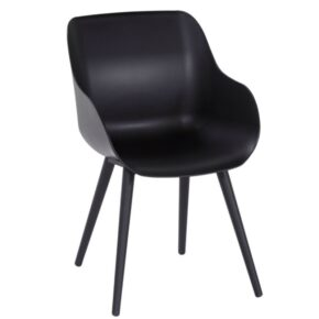 """Hartman """"Sophie Studio"""" Organic Chair, Gestell Aluminium carbon black, Sitzschale carbon black"""