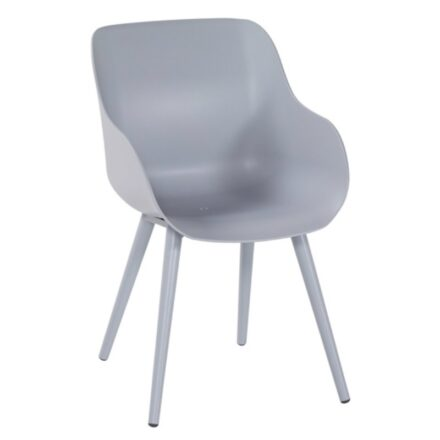"Hartman ""Sophie Studio"" Organic Chair, Gestell Aluminium misty grey, Sitzschale misty grey"